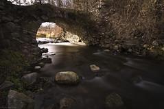 Little stone Bridge (Ryan Gardiner) Tags: bw ontario canada photography rocks stream 10stop nd110