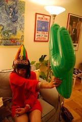 (Rachel Citron) Tags: nyc newyorkcity intense colorful bright nativeamerican multicolored cowboysandindians westwardho indiancostume wildwestparty blowupcactus juliaiglesiasmusachio