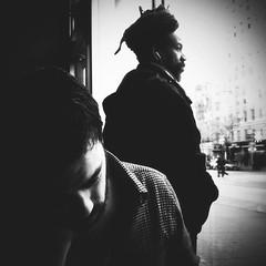 """Melancholy Days that Feel like a Ben Folds Ballad"" (Sion Fullana) Tags: nyc autumn portrait people urban blackandwhite bw newyork fall blancoynegro portraits square sad streetshots streetphotography starbucks squareformat headphones anton melancholy allrightsreserved newyorkers newyorklife iphone doubleportrait 500x500 urbansh"