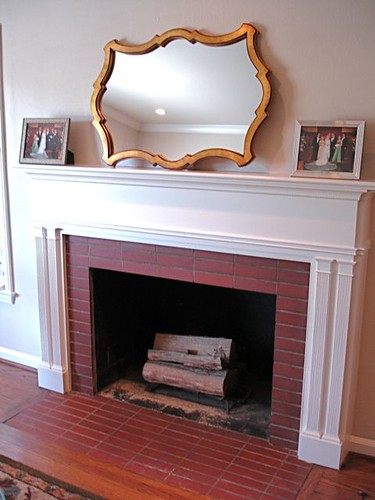 A Fireplace Goes From Drab To Fab