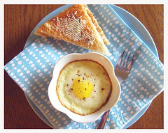 Baked Egg with Rainbow Pepper and Herb Toast (lulapatisserie) Tags: breakfast egg breakfastsetting