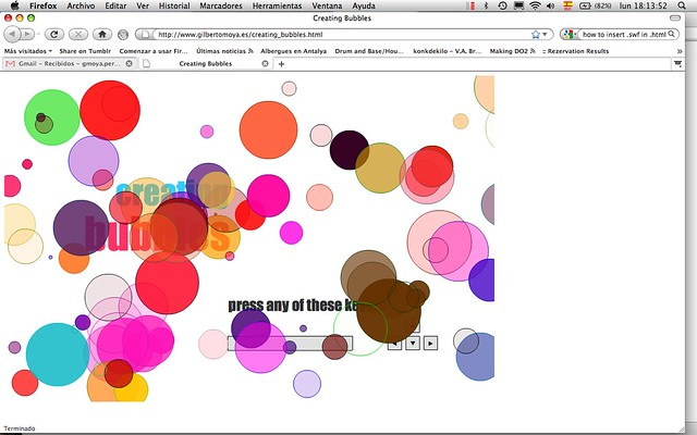 Interactive animation: Creating Bubbles