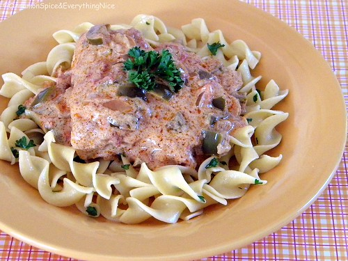 Chicken Paprikash with Egg Noodles