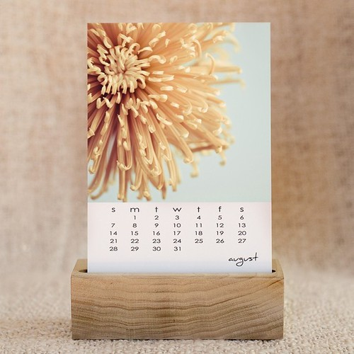 2011 desk calendar with wooden base - original fine art photography - in stock ready to ship