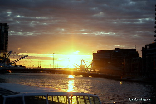 Sun set is at Docklands