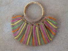 Fat bag in warm brown (crochetbug13) Tags: crochet fatbag