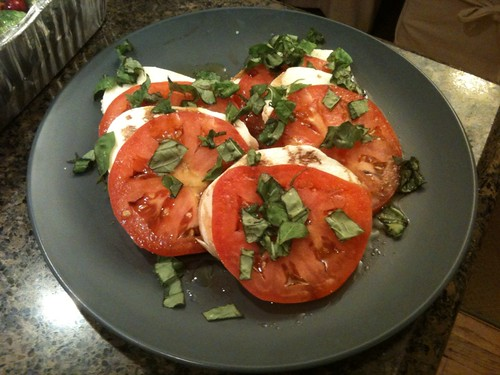 Fresh tomato and mozzarella