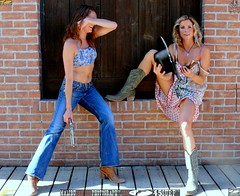 Cowgirl Models with Cowboy Boots and Guns (45SURF Hero's Odyssey Mythology Landscapes & Godde) Tags: hot sexy beautiful beauty wearing cowboy pretty with boots models 45 guns cowgirl revolver swimsuit colt
