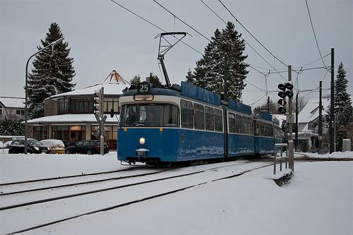Kurs 4 überquert die Münchner Straße in Grünwald