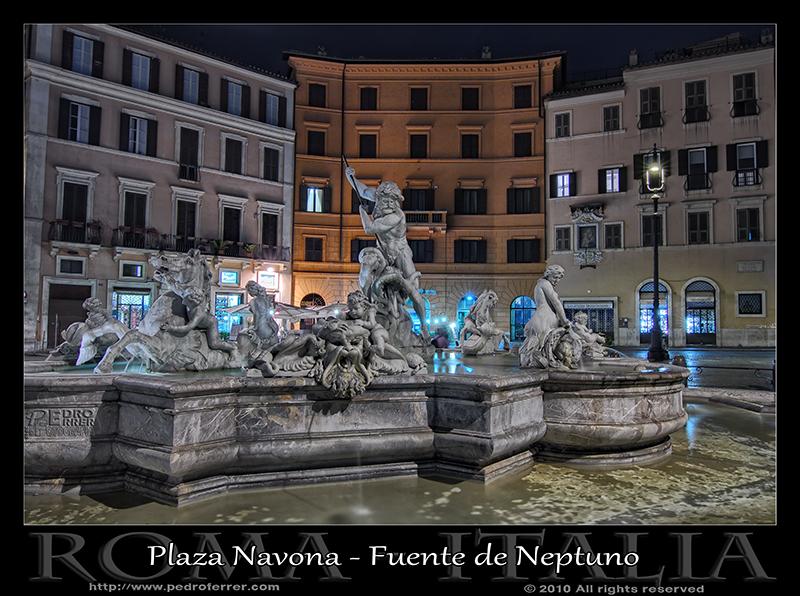 Roma - Plaza Navona - Fuente de Neptuno