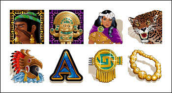free Aztecs Treasure Feature Guarantee slot game symbols