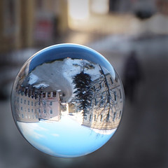 Play with my wonderful glass ball ~ (rotraud_71) Tags: reflections reflexions glassball mywinners vanagram