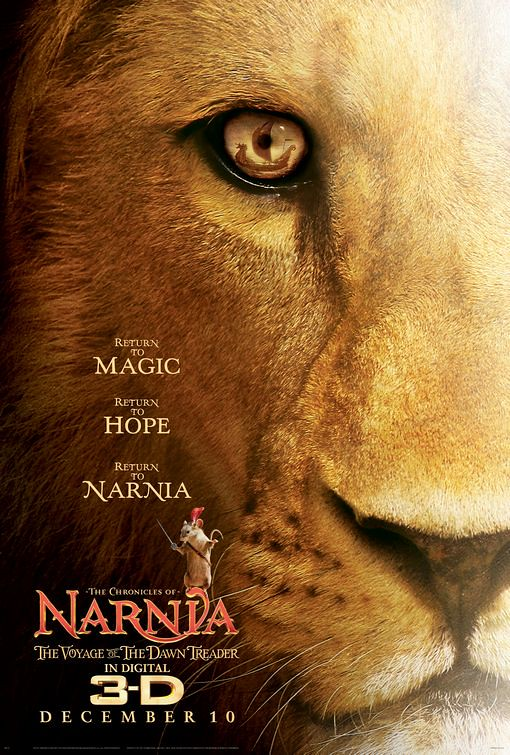 The Chronicles of Narnia The Voyage of the Dawn Treader movie posters