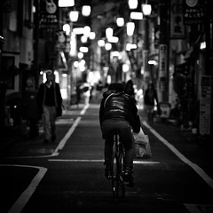 Nikon Select   2010-11-28  16-46-48 (MichelleSimonJada) Tags: street travel people bw white black photography japanese tokyo living aperture scenery dof bokeh sightseeing documentary lifestyle scene depthoffield snaps   nikkor vignette neighbourhood yoyogiuehara naturallighting postprocessing  dodgingburning