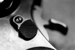 Catch & Release (Immane) Tags: auto blackandwhite stilllife film monochrome hammer 35mm gun sears trix smith 400tx d76 pistol cylinder catch 135 pushed revolver latch pushprocessed model15 wesson mamiyasekor k38 38special ei800 pentaxspotmaticii 55mmf28macro roll59 aristapremium400