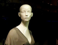 role modeling (dmixo6) Tags: light urban toronto colour mannequin window night dark blind display eyeless dugg dmixo6