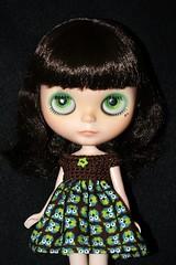 Life's A Hoot Custom #4 ~ Gradiated Light Green Eyes