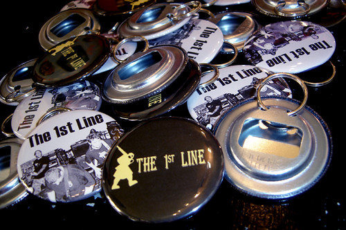 Bottle Cap Opener Keychains for The 1st Line