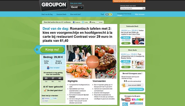 Groupon in Gent