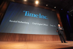 Time Inc's Chief Digital Officer showing off HP TouchPad