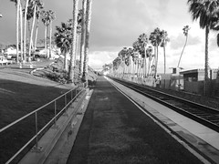 San Clemente Pier Amtrak Stop (BobbyAdams) Tags: friends white black pier los san angeles clemente