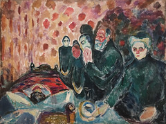 Edvard Munch, Death Struggle, 1915, Oil on canvas, SFMOMA (Sharon Mollerus) Tags: edvardmunchbetweentheclockandthebedexhibit cfpti17