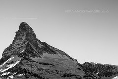 Art Mountain Zermatt (Fernando Xambre) Tags: snow mountain eurotrip sky airplane white black ice zermatt matterhorn montanha neve gelo switzerland suiça