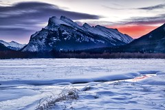 Happy Birthday Canada 150! (John Andersen (JPAndersen images)) Tags: banff mountrundle snow sunrise twojacklake vermillionlakes winter canada150