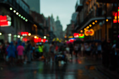 after the rain (c h r i s t o s) Tags: bourbon street neworleans nola frenchquarter blur bokeh wet dof abstract