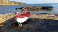Red boat and see in Alghero ( Sardinia) (collage42 -Pia-Vittoria//OFFF) Tags: sardegna sardinia cerdena see mare boat red barca barco mar rojo