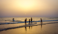 Fun in the Sea (Tony_Brasier) Tags: nikon sea sunset kids fun fishing sky sun cadiz spanish bluesky blue yellow sand 16mm85mm play running raw stones swim spain d7200 lovely location holiday