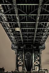 Into Brooklyn (TXA Photography) Tags: bridge sky metal manhattanbridge manhattan brooklyn underthebridge newyork newyorkcity newyorkarchitecture architecture perspective us usa unitedstates travel spring april canon canon5dmkiv 24105mm