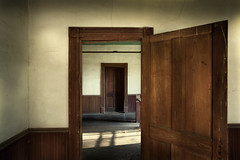 Across The Hall (shutterclick3x) Tags: doors abandoned moody
