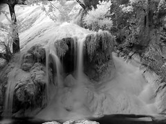 Turner Falls Waterfall - Infrared (clee130) Tags: longexposure oklahoma ir waterfall long exposure sony falls nd infrared ok turner density turnerfalls neutral dscv3 sonydscv3 neutraldensity