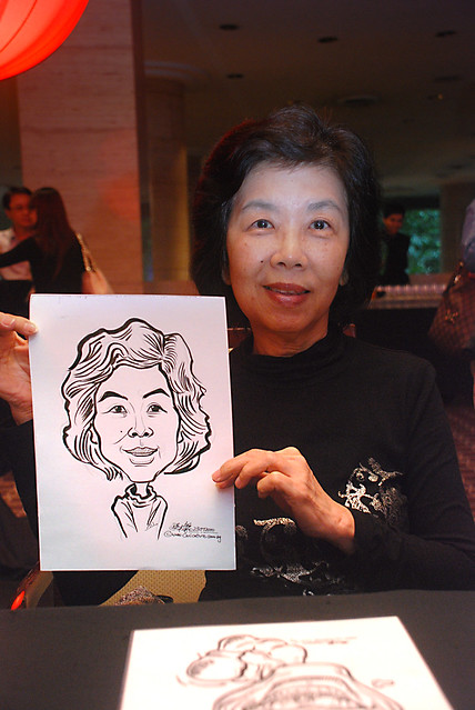 Caricature live sketching for Travel Partners Appreciation Dinner - World Fiesta - 2