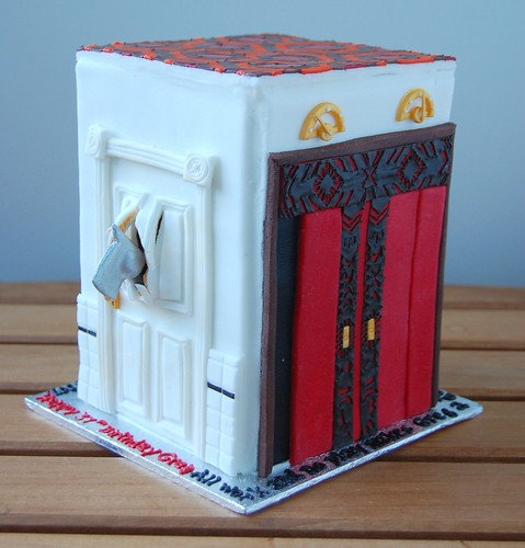 The doors of The Shining cake - bathroom & elevators