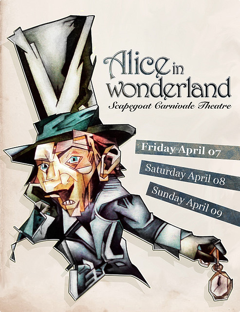 Alice in Wonderland, poster design (2007)