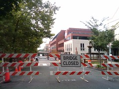 Thomas Jefferson St. NW Bridge Closed, Georgetown