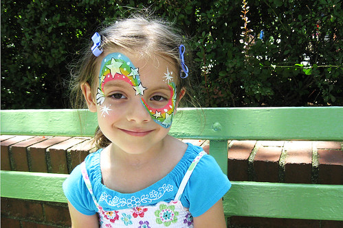 Face painting: It doesn't get any better than this to a five year old girl.