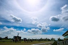 [フリー画像] 運動・スポーツ, 競馬, 空, 雲, 日本, 愛知県, 201007310700