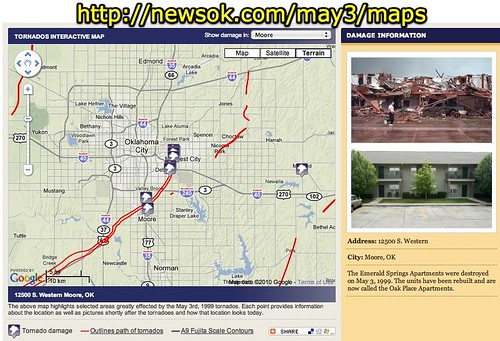 Interactive Tornado Map - May 3, 1999 Oklahoma Tornado - NewsOK.com