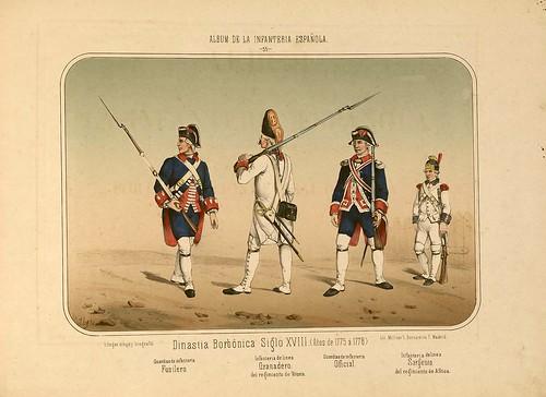 010- Álbum de la Infantería Española..-1861- conde de Clonard