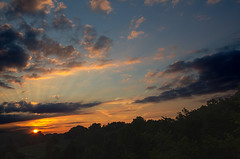 Sunset Rays (Tyler van der Hoeven) Tags: sunset sky clouds contrast photoshop kentucky adobe rays sunrays hdr hdrsunset hdrclouds t2i