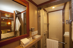 Bathroom on a Luxury Train (Train Chartering & Private Rail Cars) Tags: indiantrain privatetrain privaterailcar chartertrain traincharter trainchartering privatecarriage luxurytravel luxurytrain luxurytrainclub indianluxurytrain maharajasexpress