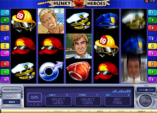 Sneak a Peek Hunky Heroes slot game online review