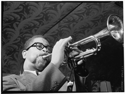[Portrait of Dizzy Gillespie, New York, N.Y., ca. May 1947] (LOC)