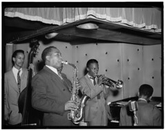[Portrait of Charlie Parker, Tommy Potter, Mil...