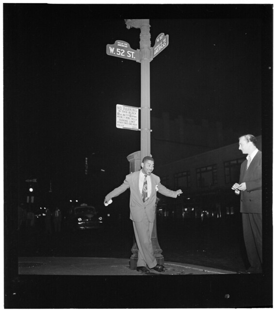 [Portrait of Dizzy Gillespie, 52nd Street, New York, N.Y., between 1946 and 1948] (LOC)