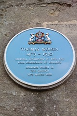 Photo of Thomas Wolsey blue plaque