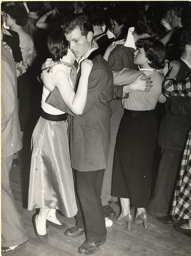 1955 July - Paul Popper - London - Teddy Boy and girlfriend moon-dancing at dance hall by blacque_jacques